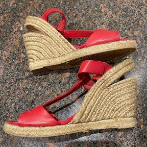 BROWNS leather espadrilles